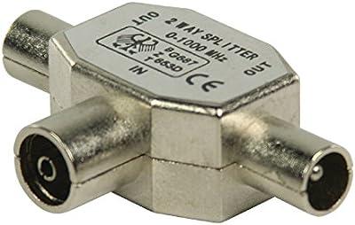 Valueline coax/2x coax 1pieza(s) - Conector coaxial