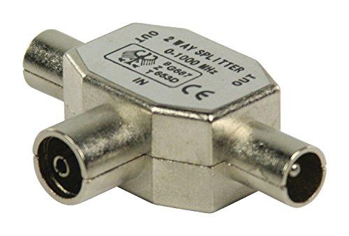 Valueline coax/2x coax 1pieza(s) - Conector coaxial (1 pieza(s))