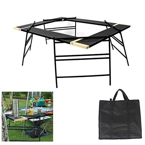 Esstische Picknicktisch, tragbarer Picknick-Klapptisch im Freien, Splicable Net Table, Leichtgewicht für Camping, Strand, Hinterhöfe, Grill, Party und Picknick