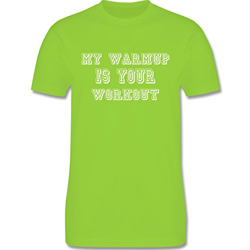 CrossFit & Workout - MY WARMUP IS YOUR WORKOUT - Herren Premium T-Shirt Hellgrün