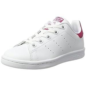 adidas Stan Smith C, Scarpe da Ginnastica Basse Unisex-Bambini, Bianco (Footwear White/footwear White/bold Pink), 30.5 EU