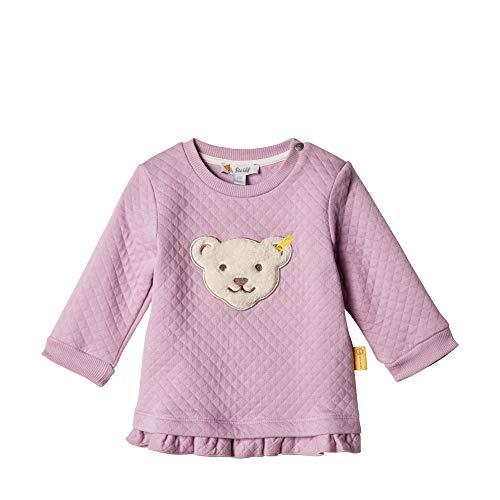 Steiff Baby - Mädchen Sweatshirt , Violett (LAVENDER MIST 7020) , 86 (Herstellergröße:86)
