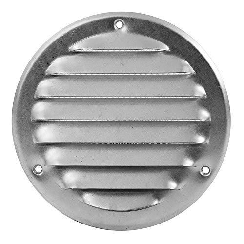 Verzinkt Lüftungsgitter - Ø 100mm - Abluftgitter - rund - mit Insektenschutz, mr100zn -