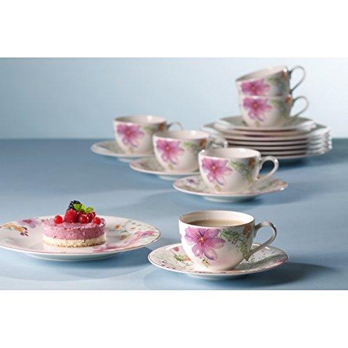 Villeroy & Boch 1041007128 Kaffee-Service, Porzellan, Floral, 34,8 x 19,7 x 32,4 cm, 18 Einheiten