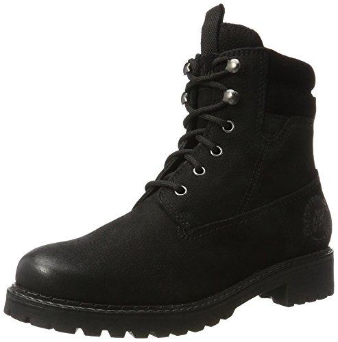 s.Oliver Damen 25204 Combat Boots, Schwarz (Black Uni), 38 EU (Boot Wildleder Leder)