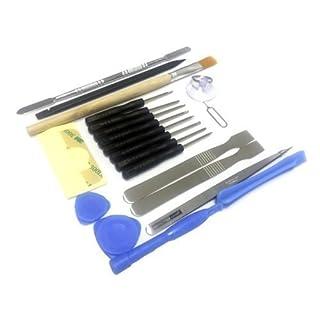 Acentix - 21-in-1 Reparatur Werkzeugset mit Schraubendrehersatz für iPhone 3, 3GS, 4, 4s, 5, iPad iPod SAMSUNG HTC NOKIA iTouch PSP NDS & HTC, Universal Werkzeugset für alle Arten von Mobiltelefonen