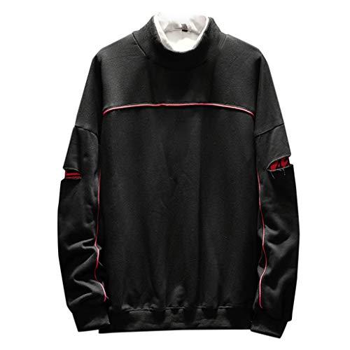 YU'TING ‿ Camuffare O-Collo Felpa Moda Felpe Girocollo Felpe Sportive Maglione Vintage Collo Alto Figata per Uomo e Ragazzi