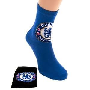 Chelsea F.C. 2 Pack junior 4-6.5- socks Kinder Socken 2 Paare, Größe 37-40 (36-40) - 70 %Baumwolle, 29 %Polyamid, 1 %Elastan, Offizielles FußBall-Merchandising-Produkt