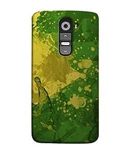 PrintVisa Designer Back Case Cover for LG G2 :: LG G2 Dual D800 D802 D801 D802TA D803 VS980 LS980 (Texture Illustration Theme White Backcase Pouch)