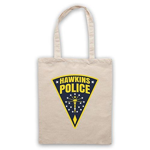 Inspire par Stranger Things Hawkins Police Badge Logo Officieux Sac d'emballage Naturel