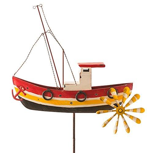 colourliving eacute;coration de jardin/terrasse métallique en forme de bateau de pêche