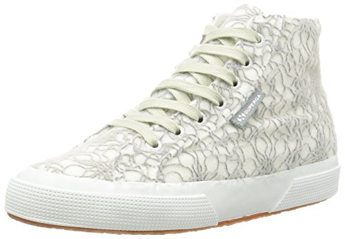 Superga 2795-Microfleece Crystalw, Scarpe Low-Top Donna, Grigio (Lt Grey/White), 39 EU