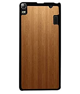 Lenovo A7000, Lenovo A7000 Plus, Lenovo K3 Note Back Cover Brown Shade Wood Design From FUSON