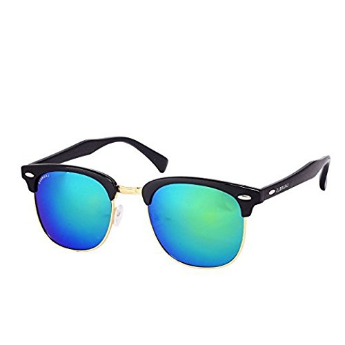 Laurels Club II Men Multicolor Color Wayfarer Sunglass (LS-CLB-II-240602)