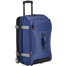 AmazonBasics - Reisetasche mit Rollen, Mittel, Blau