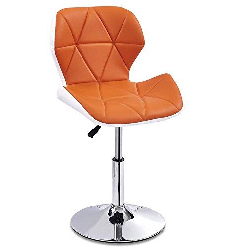 JDⓇ Hoher Schemel-Stab-Küchen-Frühstück, das Stuhl-Schwenk-Geschäfts-Hallen-Stuhl speist, kann auf und ab Heben Weiß und Orange (größe : A) - Schwenk Hoch Hocker