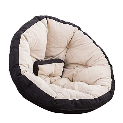 Sitzsäcke tragbare Kuschelstuhl waschbar Baby Sofa Kinder Schlafzimmer Pelz (Color : Black, Size : 32.28 * 23.62 * 3.94IN)