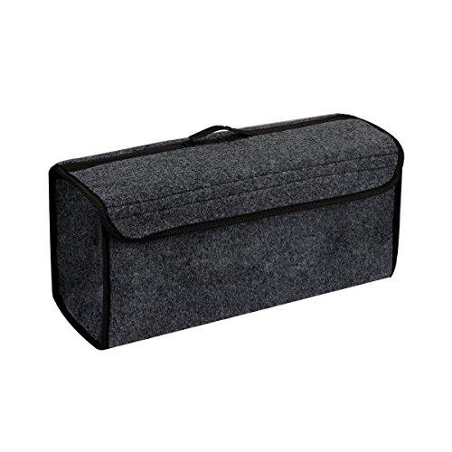 AOZBZ Auto Kofferraumtasche, Faltbare Filz Tuch Auto Kofferraum Organizer Aufbewahrungsbox, Heavy Duty Einkaufen Reise Autotasche Tidy Organizer Halter (Lagerung Trunk Box)