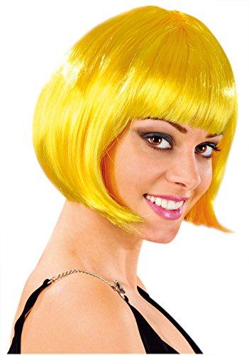 Cabaret Wigs Perücke Fantasie, Bubikopf, kurz mit Fransen -