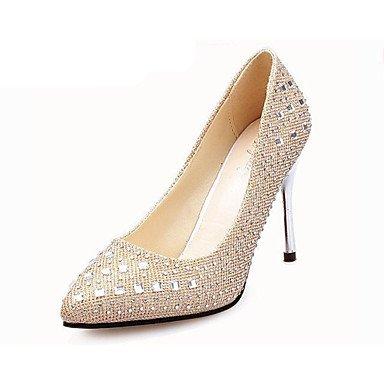 Moda Donna Sandali Sexy donna tacchi tacchi estate pu Casual Stiletto Heel scintillanti di Glitter nero / rosso / Argento / Oro Altri Black