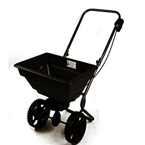 Dirty Pro Tools™ 55 lbs Professional rotary spreader lawn fertiliser walk behind grass weed or seed feed or grit spreader
