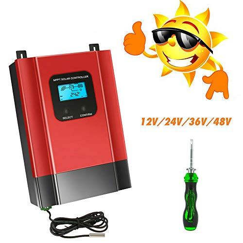 YIYIBY 60A MPPT Solarladeregler 12V / 24/36 / 48V solar laderegler Solarmodul Autobatterieregler 3 Serie mit LCD-Bildschirm