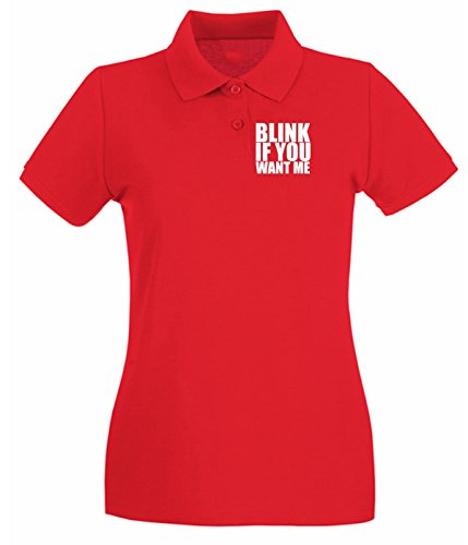 T-Shirtshock - Polo pour femme FUN0820 blink if you want me Rouge
