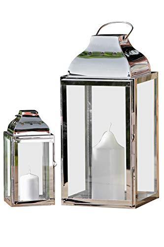 Laternen Balkon Windlichter Eisen Silber Glas Tür Wohnzimmer Dekoration ()