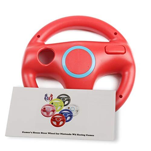 Wii U Wii Lenkrad Original Weiß für Rennspiele Mario Kart Racing Wheels rot Mario Red