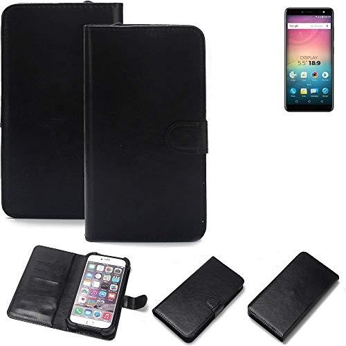 K-S-Trade® Wallet Case Handyhülle Für Allview V3 Viper Schutz Hülle Smartphone Flip Cover Flipstyle Tasche Schutzhülle Flipcover Slim Bumper Schwarz, 1x