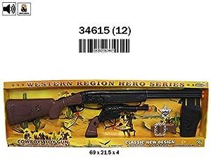 RAMA TRITTON- Set Rifle Pistolero con Sonido, Pistola Y Accesorios 69X21,5X4 (Pilas Incluidas), (34615)