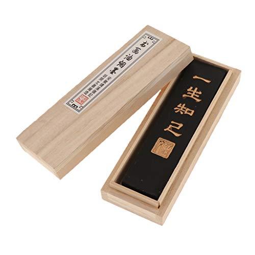Homyl Chinesische traditionelle Kalligraphie Malerei Tinte Stick Block - Schwarzer Ölrauch, S