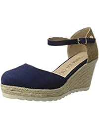 XTI Navy Suede Ladies Shoes . - Plataforma Mujer