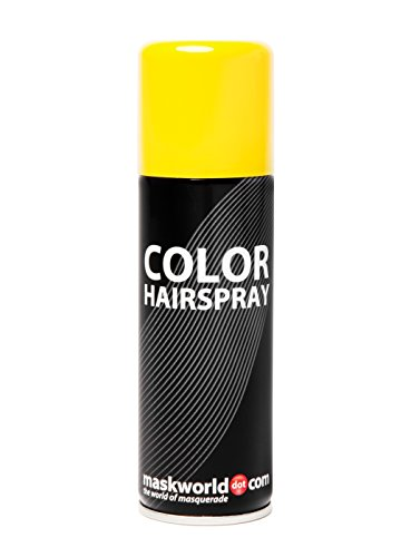 Maskworld Color Hairspray - farbiges Haarspray bunt Colorspray (Gelb)