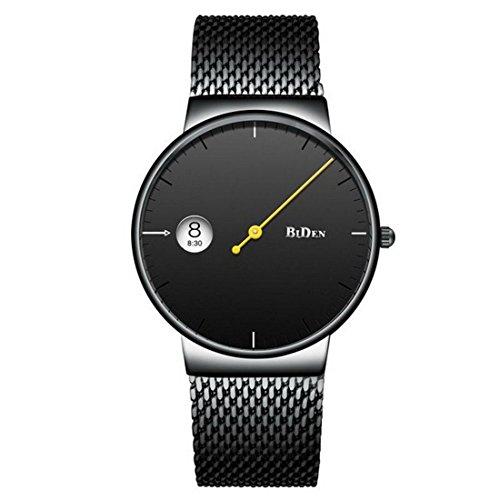 Luzoeo Herren Analog Quarz Armbanduhr Wasserdicht Datum Kalender mit Edelstahl Armband