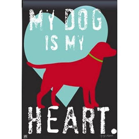 Imán funciona POD–perro es mi corazón bandera 12,5
