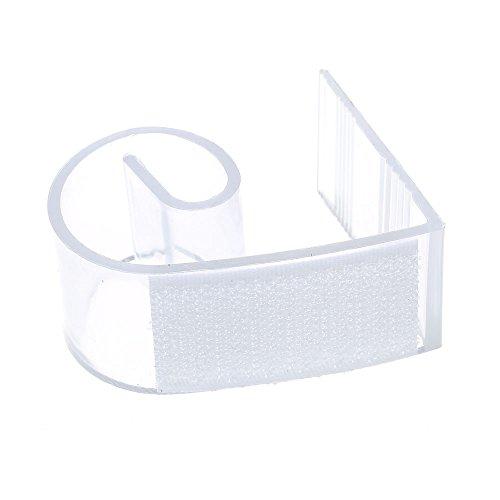 FACILLA® 50x Klettverschluss Tischdecke Clip Klammer Tischklammern Skirting Clips Gefragt
