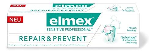 elmex SENSITIVE PROFESSIONAL REPAIR & PREVENT Zahnpasta, 2er Pack (2 x 75 ml) (Zahnpasta Empfindlich)