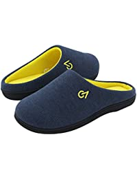 VeraCosy Men's Two-Tone Memory Foam Slippers