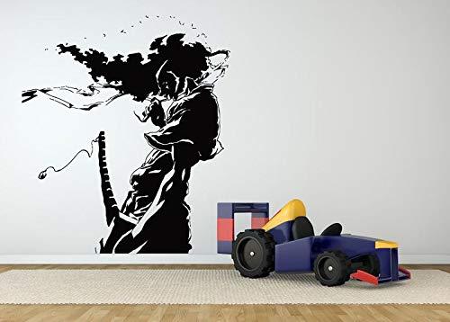 ltur Wohnzimmer Kunst Wasserdicht Vinyl Wandtattoo Samurai Ninja Cartoon Aufkleber Schlafzimmer Neue Design L 56x65 cm ()