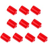 MagiDeal 10 Pieces Pool Billiard Cue Tip Rubber Protector Red