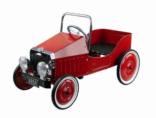 Gollnest & Kiesel 14062 - Coche rojo con pedales (metal), diseño retro de 1938