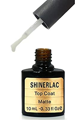 SHINERLAC MATT TOP COAT UV LED NAIL GEL POLISH SHELLAC NAILS SOAK OFF 10ml