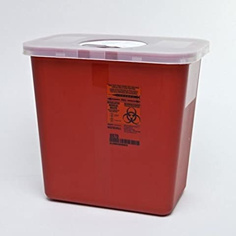 Kendall Sharps Container with Rotor Lid - 2 Gallon - Pack of 3 by COVIDIEN
