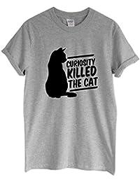Rock Paper Sisters Unisex Slogan T-Shirt: Curiosity Killed The Cat