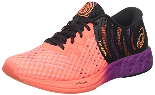 ASICS Herren Noosa FF 2 Triathlonschuhe, (Flash Coral/Shocking Orange/Black 0630), 45 EU