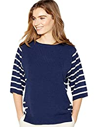 83b578bacfdc Maine New England Womens Navy Striped Ultra Soft Jumper 14