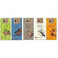 Ichoc Vegan German Chocolate Bars Mixed Case Selection | 5 x 80g | 18