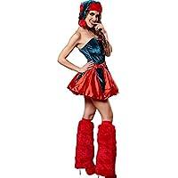 Lingerie Sets Pride S Trajes de Navidad Uniformes Halloween Temptation Set Cosplay Trajes Uniformes (Color : Rojo, Tamaño : M)