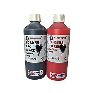 Fabric dye Red and Black Liquid Fabric Dye 500 ml x 2 Non-Toxic